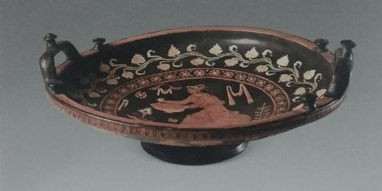 历史古希腊文明赤像画法浅圆盘