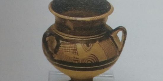 历史古希腊文明陶瓷凸纹碗