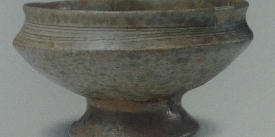 历史出土文物出土瓷器原始瓷豆