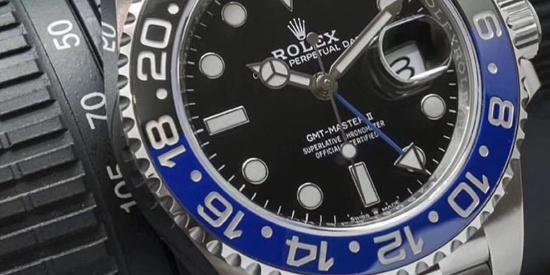 GM劳力士格林尼治黑蓝圈GMT腕表,黑蓝相接,魅力无限!