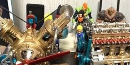 零件俱全,活塞还能动!217个组件的金属发动机模型让男生疯狂