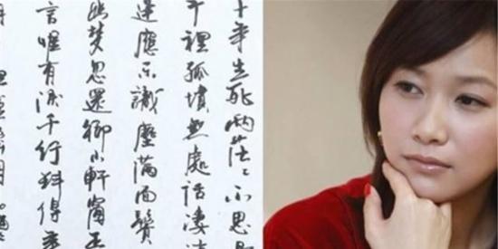 徐静蕾的魅力书法,写得很有才华