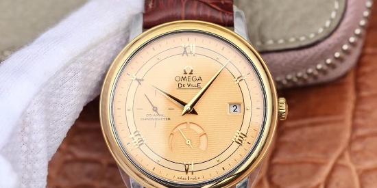 DV欧米茄蝶飞系列真动能显示腕表,简约低调的正装腕表