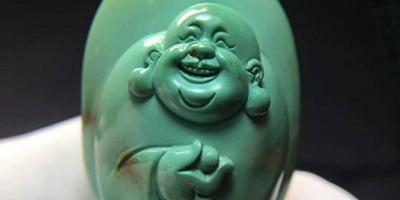 弥勒佛:原矿瓷釉级