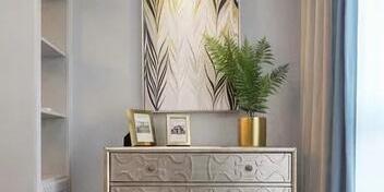 #现代轻奢#玄关的地面采用的是六边形的瓷砖设计,文艺气息油然
