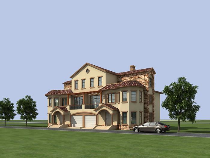 15款农村别墅设计案例 最喜欢带院的