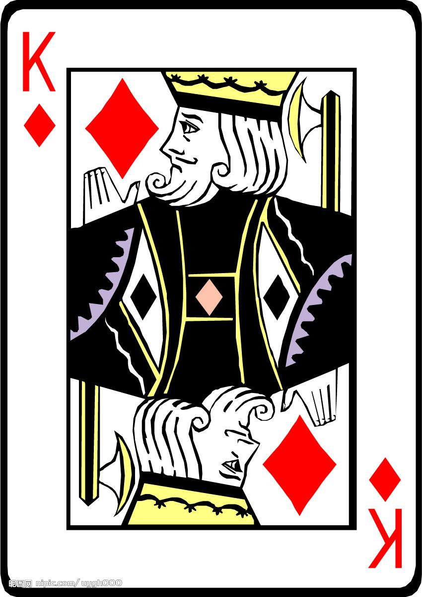 扑克牌上的人物故事由来 k代表国王 q代表皇后 j代表卫士