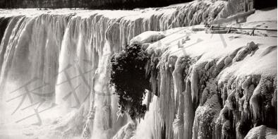 19世纪风景组图:冬季的尼亚加拉瀑布仿若仙境,极寒也难挡游客
