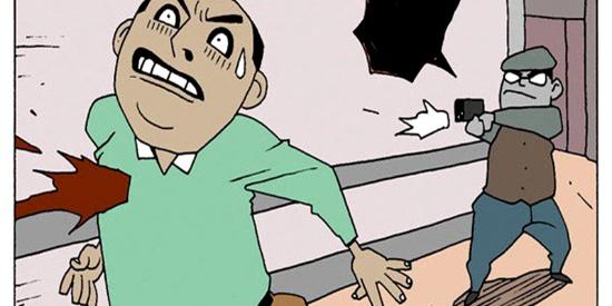 恶搞漫画:吃一顿免费的霸王餐
