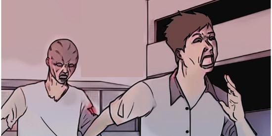 恶搞漫画:吃饭前发朋友圈的变异人
