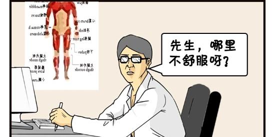 恶搞漫画:楼上太吵去看医生