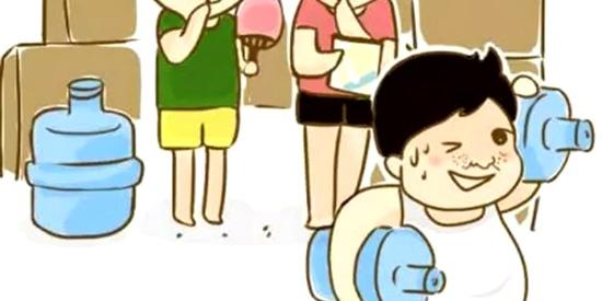 恶搞漫画:做一个胖子真难